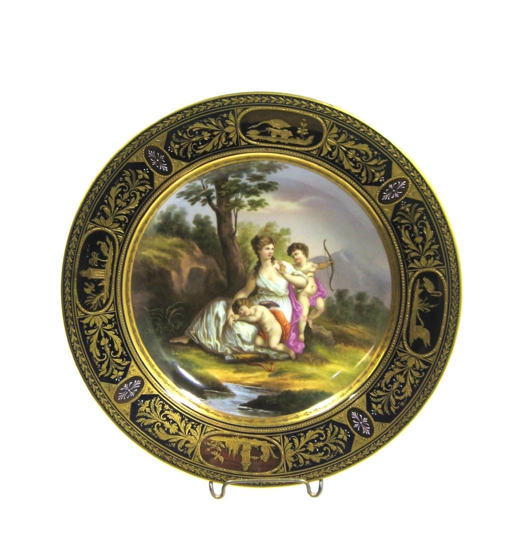 Royal Vienna allegorical plate, - 4