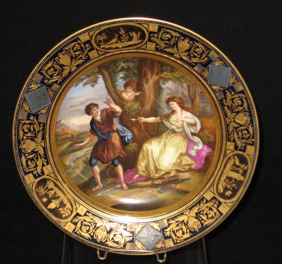 Royal Vienna allegorical plate,