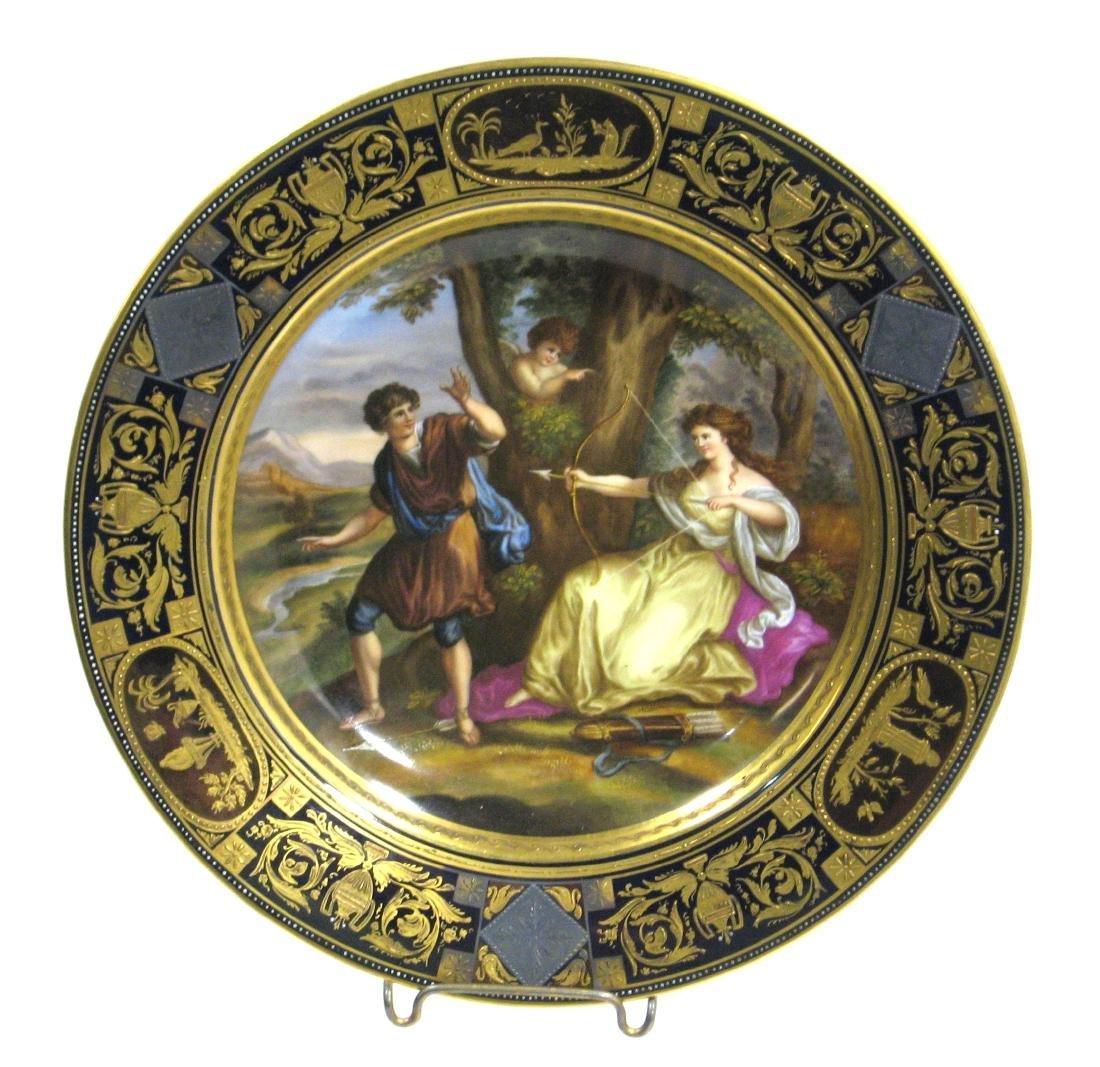 Royal Vienna allegorical plate, - 2