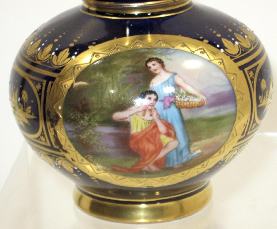 Pair of Royal Vienna porcelain vases, - 4