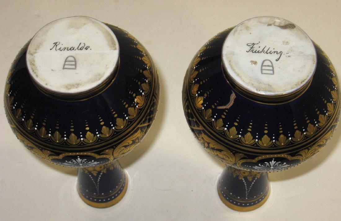 Pair of Royal Vienna porcelain vases, - 5