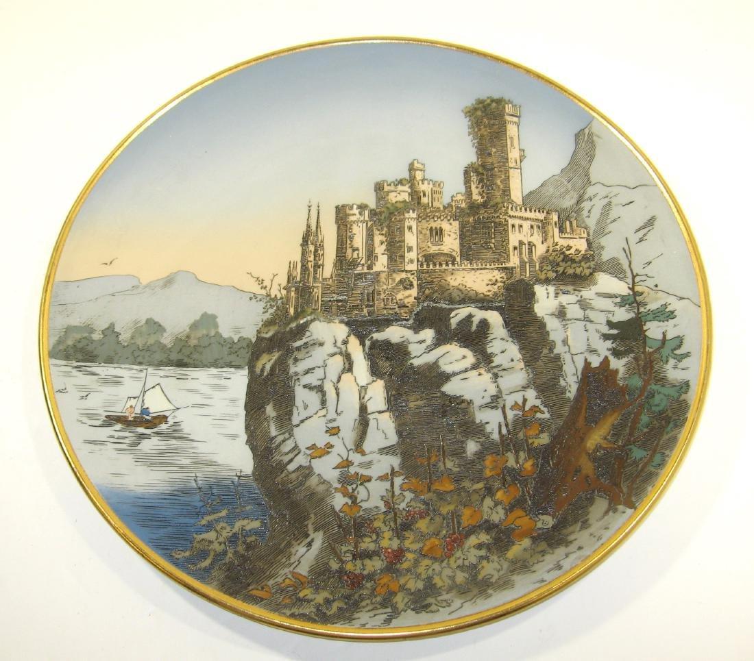 Mettlach ceramic plaque,