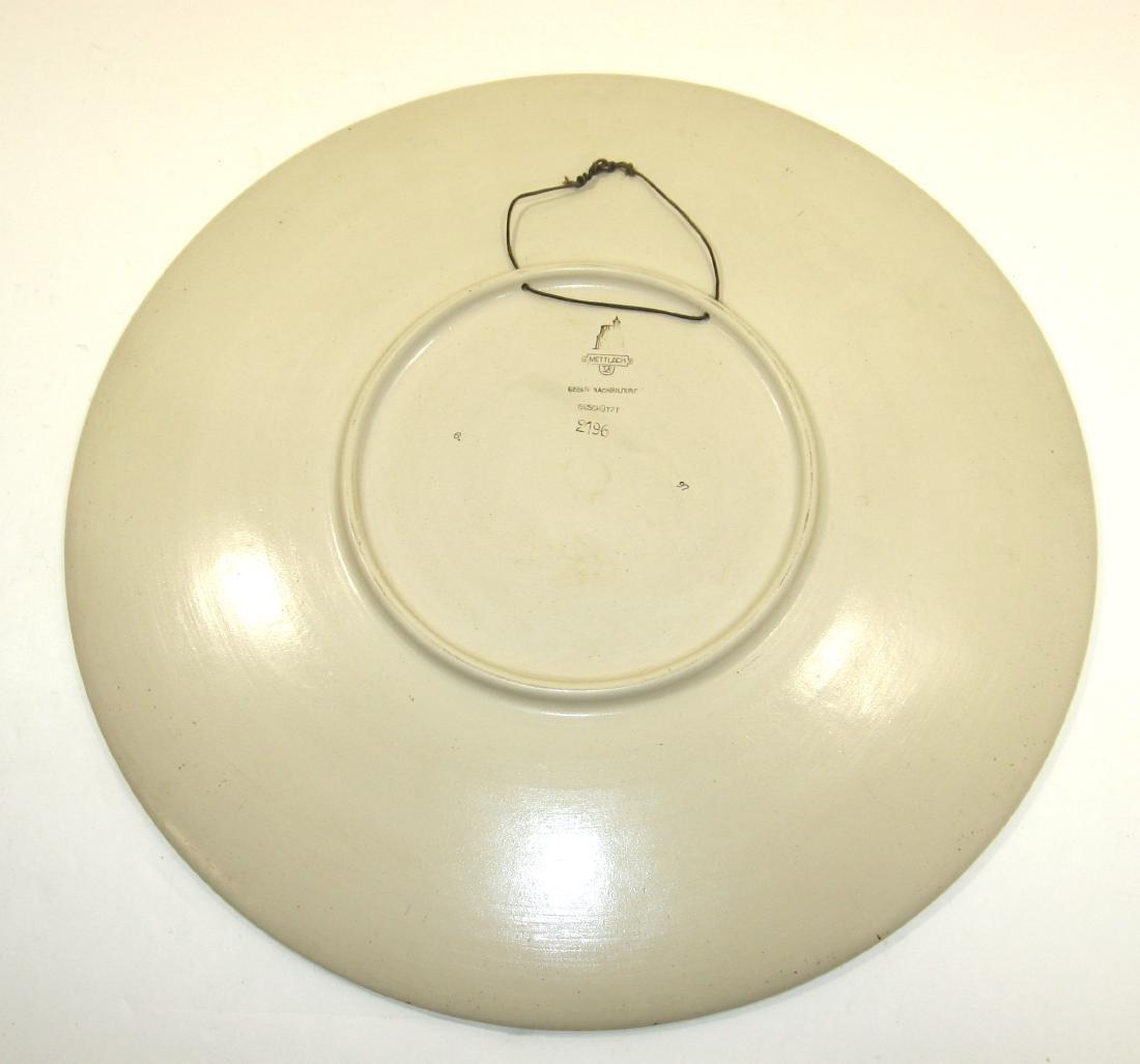 Mettlach ceramic plaque, - 2