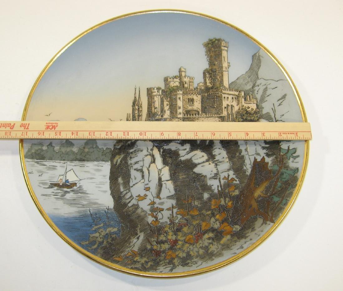 Mettlach ceramic plaque, - 4