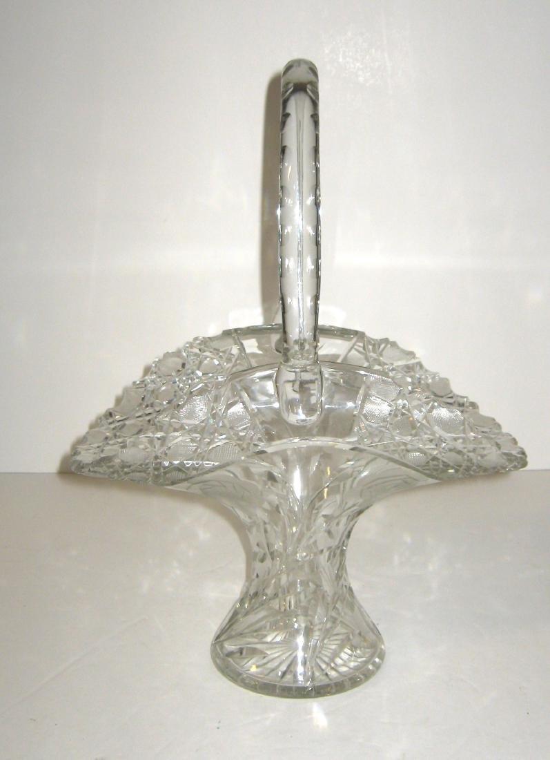 Large Cut glass basket,