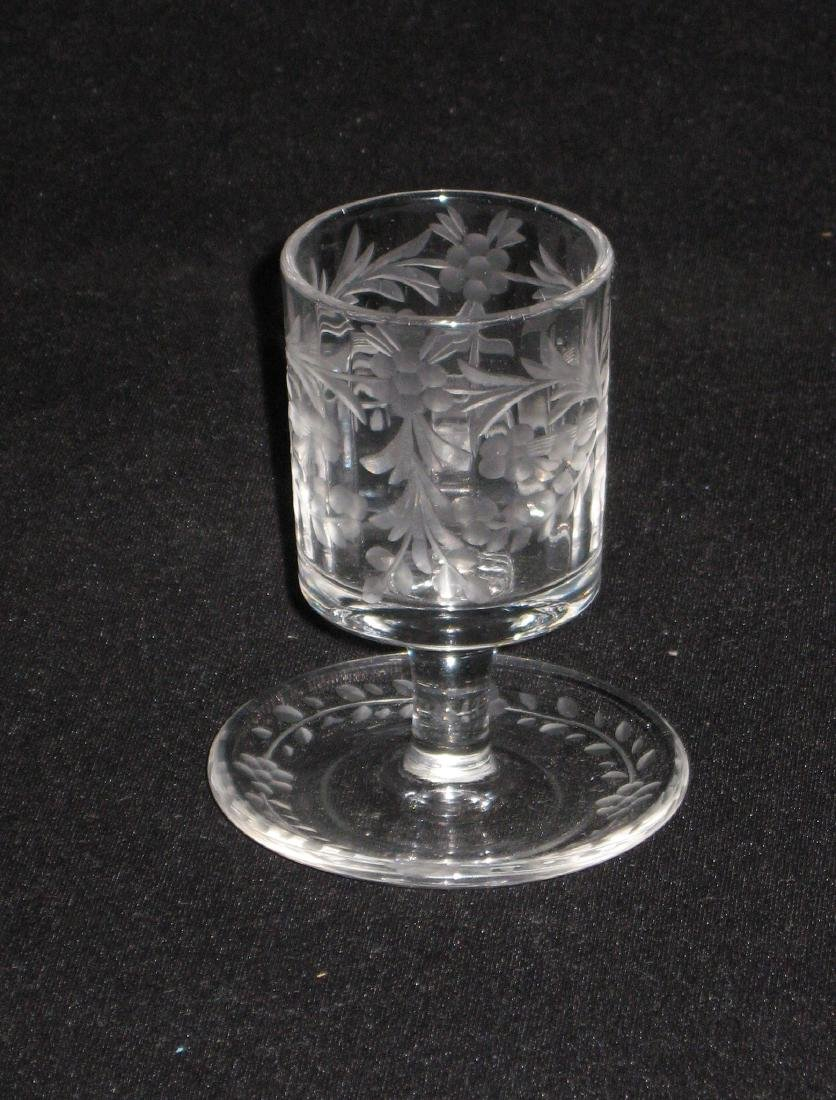 Group of Hawkes and etched glass, - 5