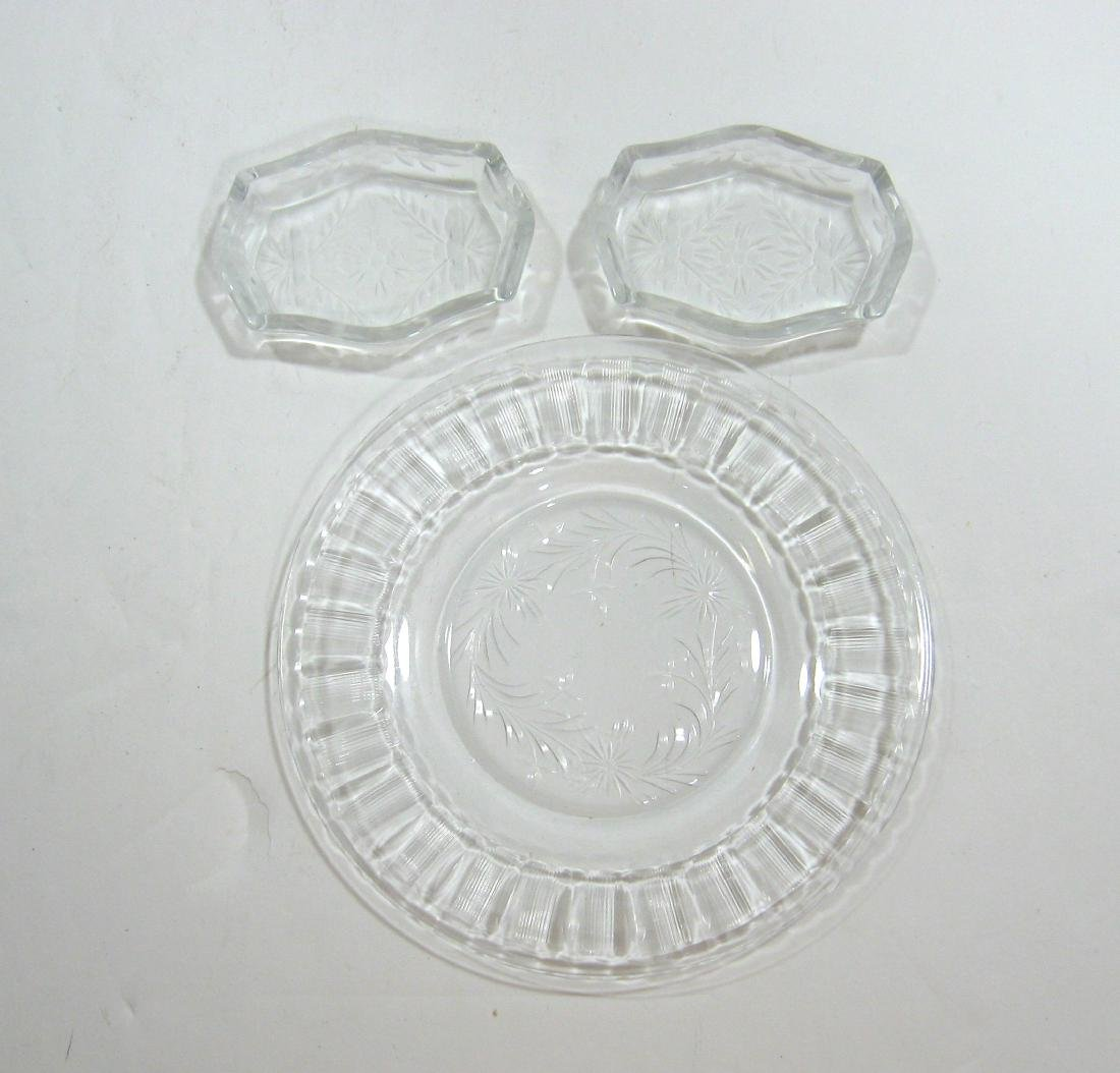 Group of Hawkes and etched glass, - 6