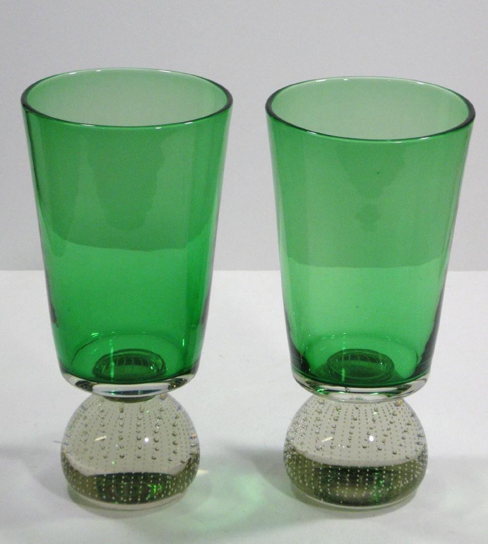 Pair of Carl Erickson glass vases