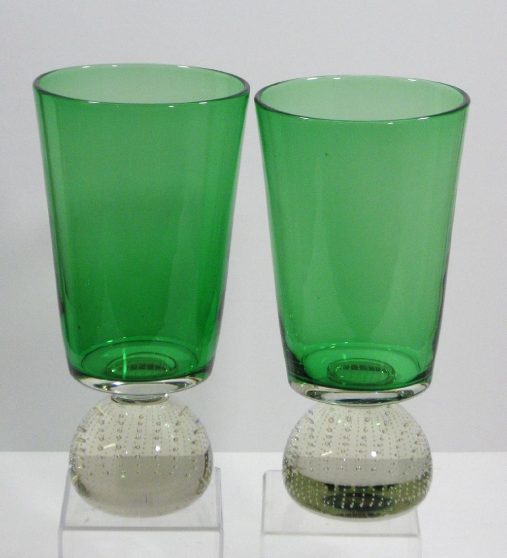 Pair of Carl Erickson glass vases - 2