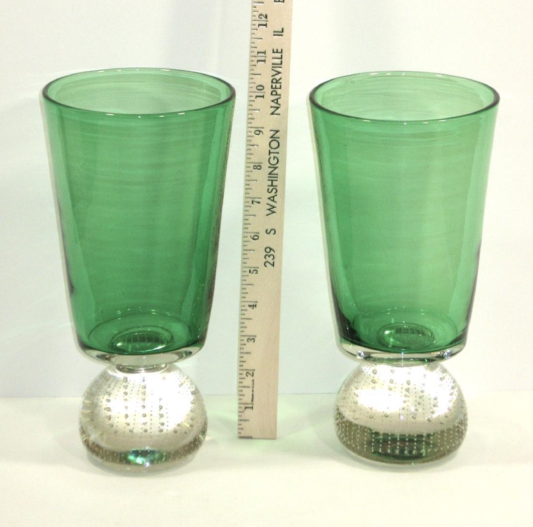 Pair of Carl Erickson glass vases - 3