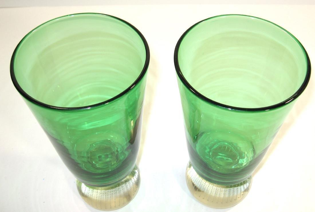 Pair of Carl Erickson glass vases - 4