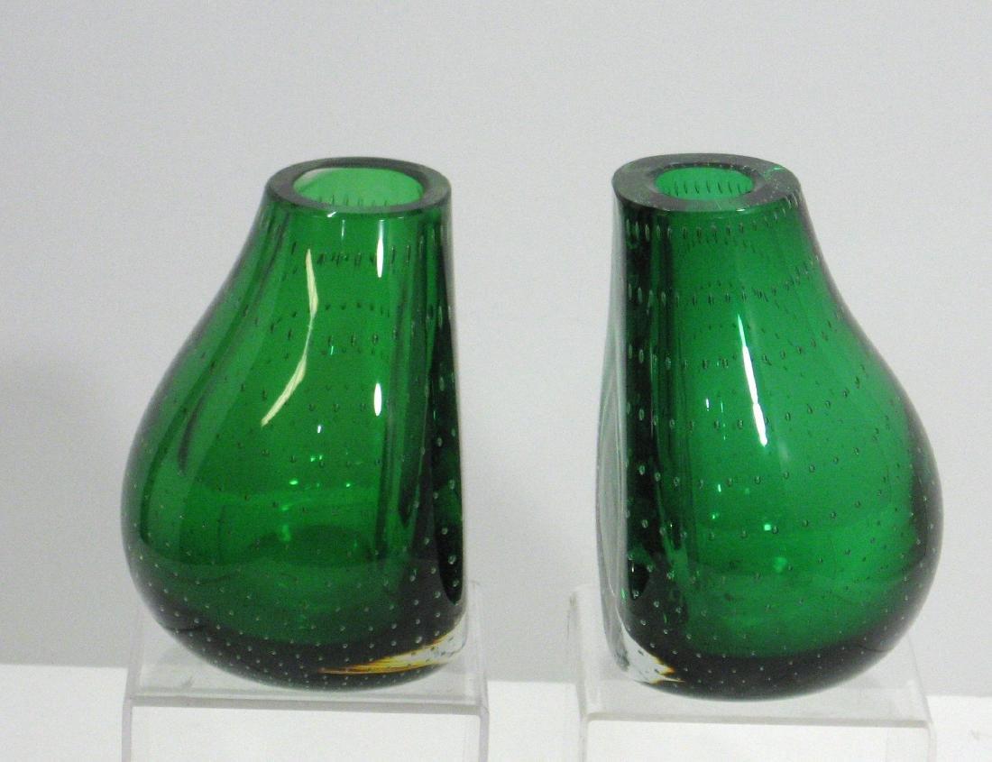 Pair of Carl Erickson glass bookends