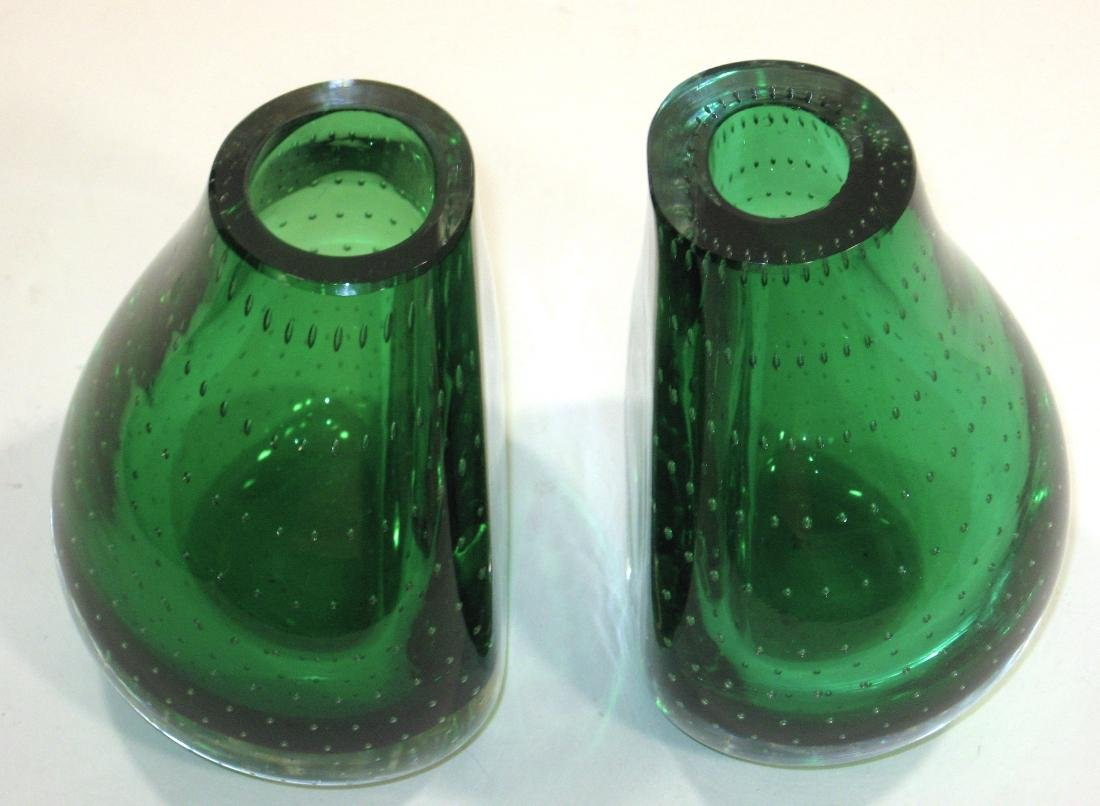 Pair of Carl Erickson glass bookends - 2