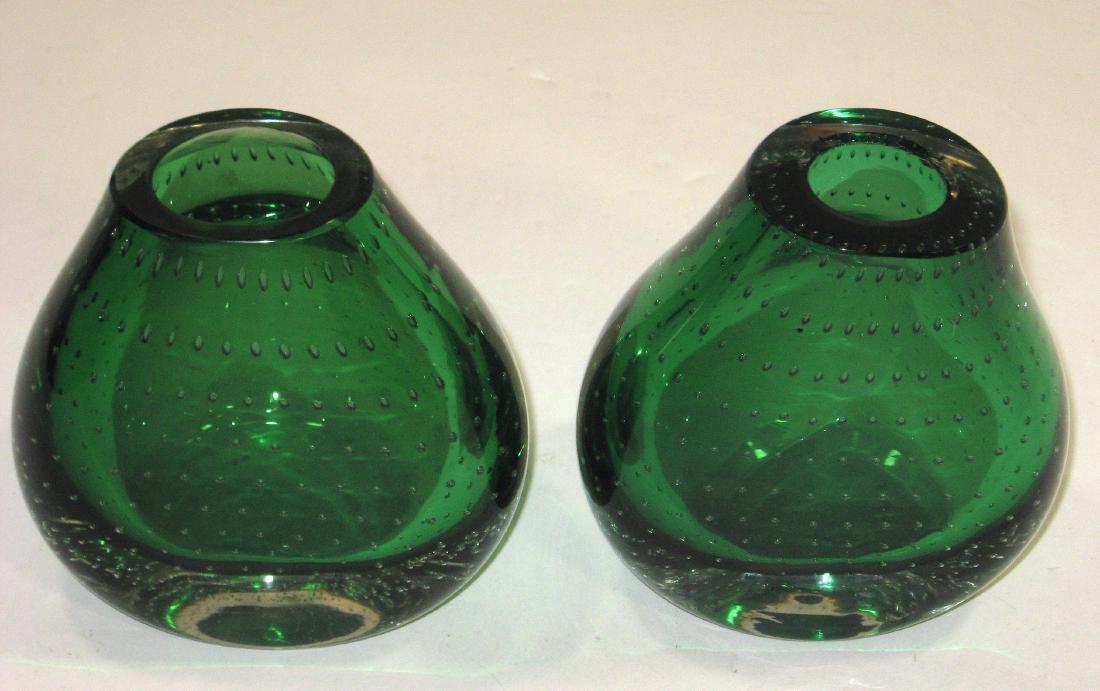 Pair of Carl Erickson glass bookends - 3