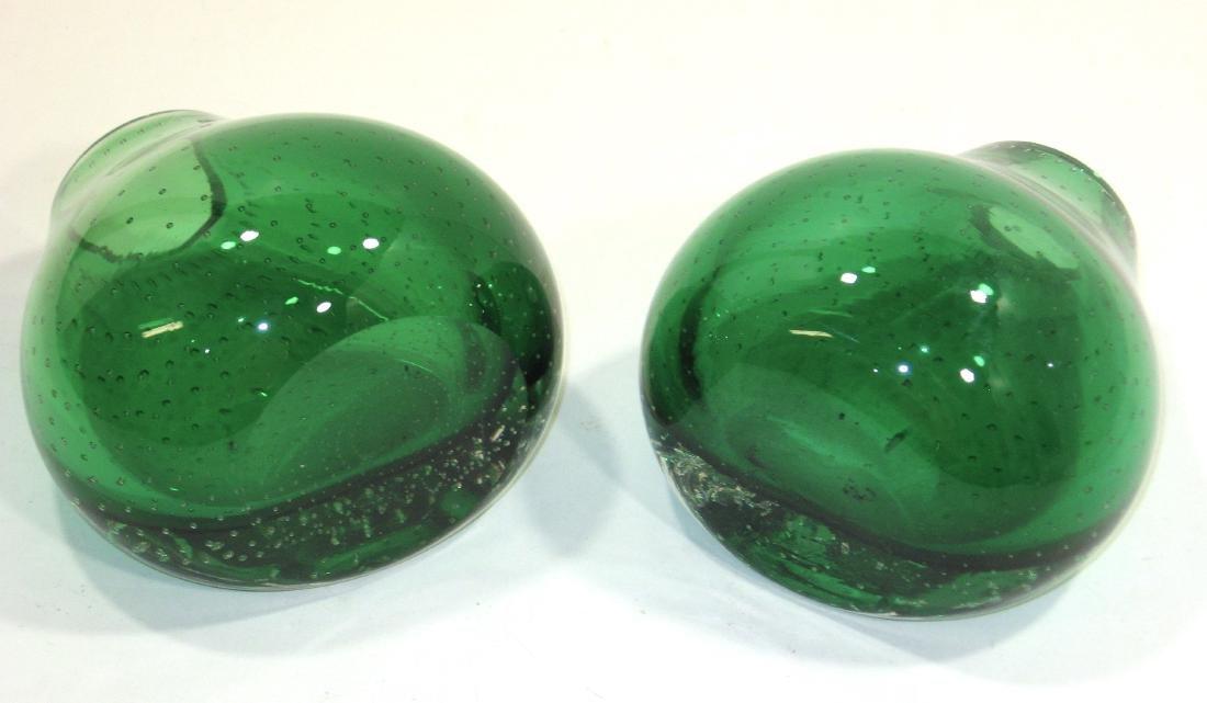 Pair of Carl Erickson glass bookends - 4