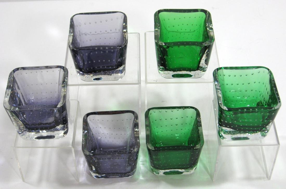 Group of six Erickson glass dishes.