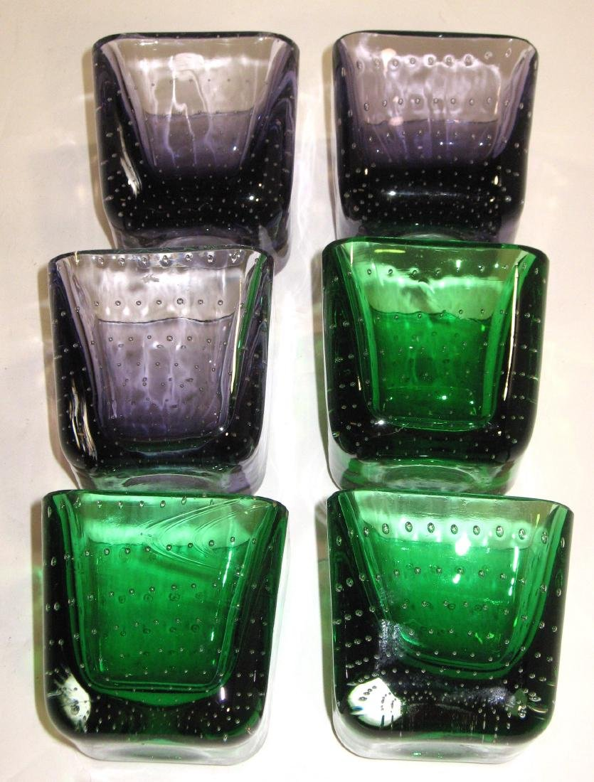 Group of six Erickson glass dishes. - 2