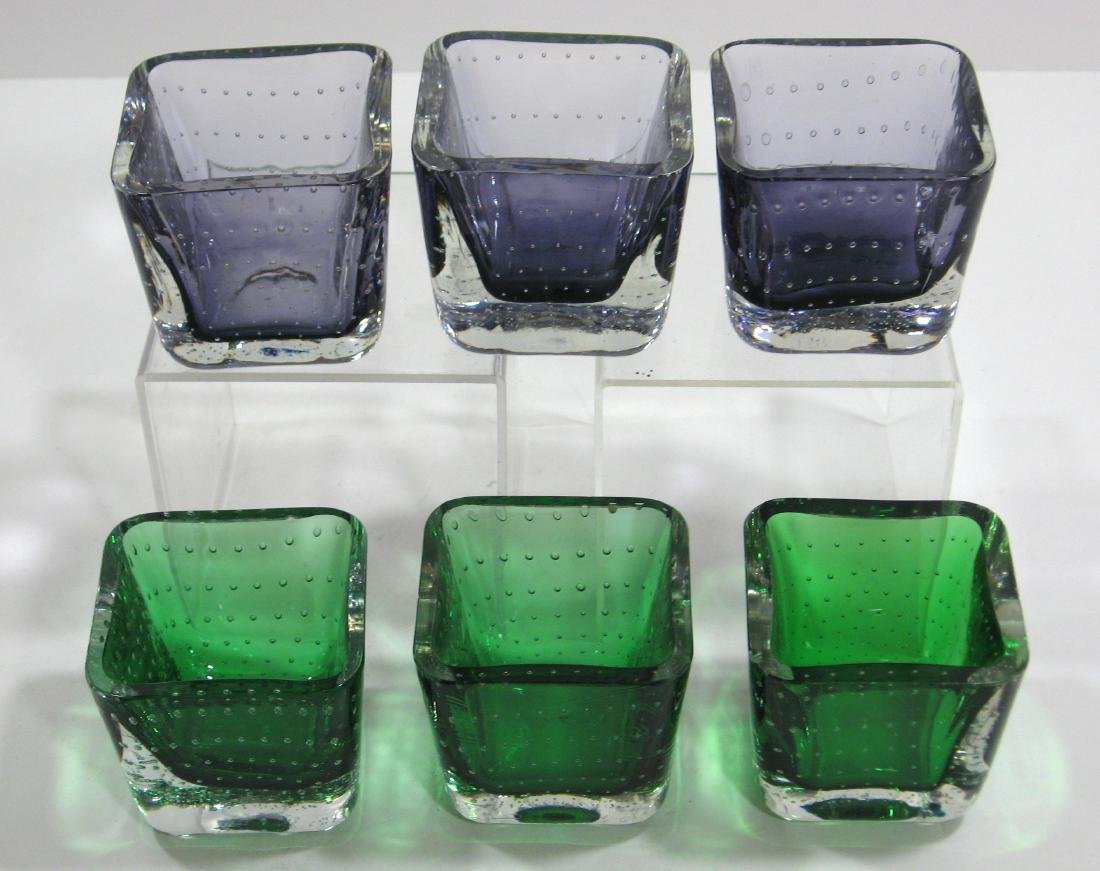 Group of six Erickson glass dishes. - 3
