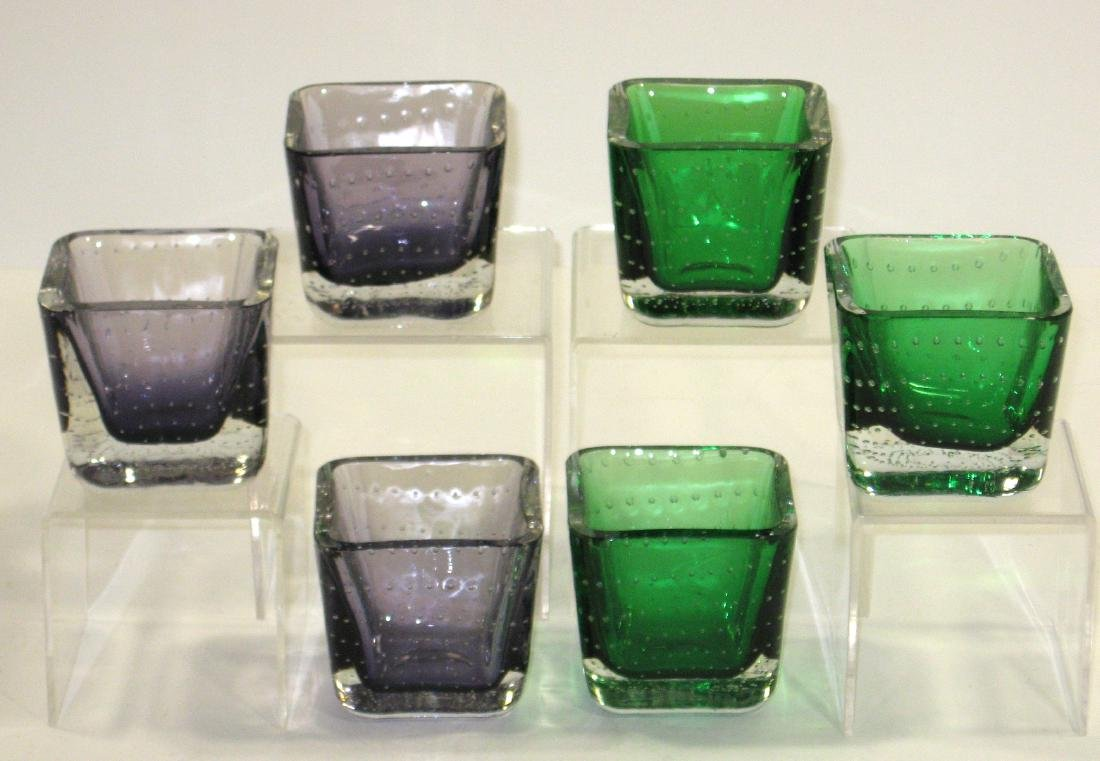 Group of six Erickson glass dishes. - 4