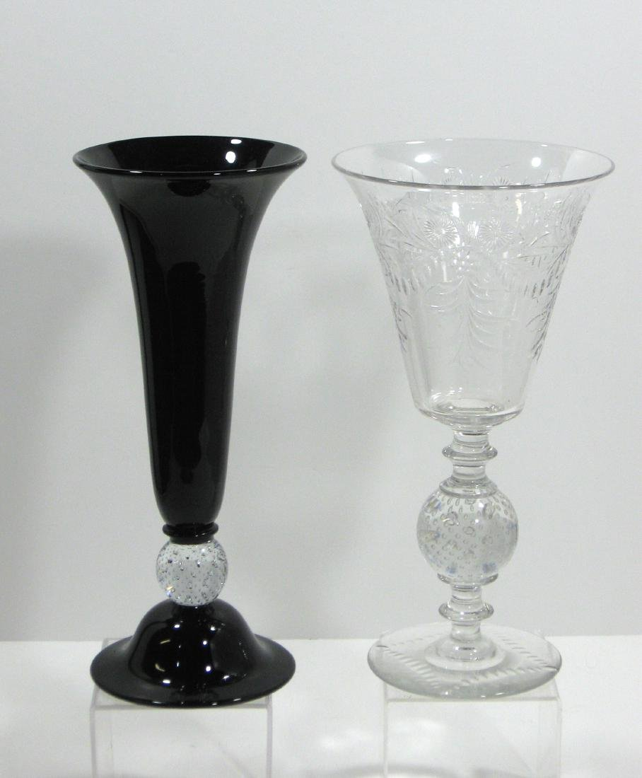 Two Pairpoint glass vases,
