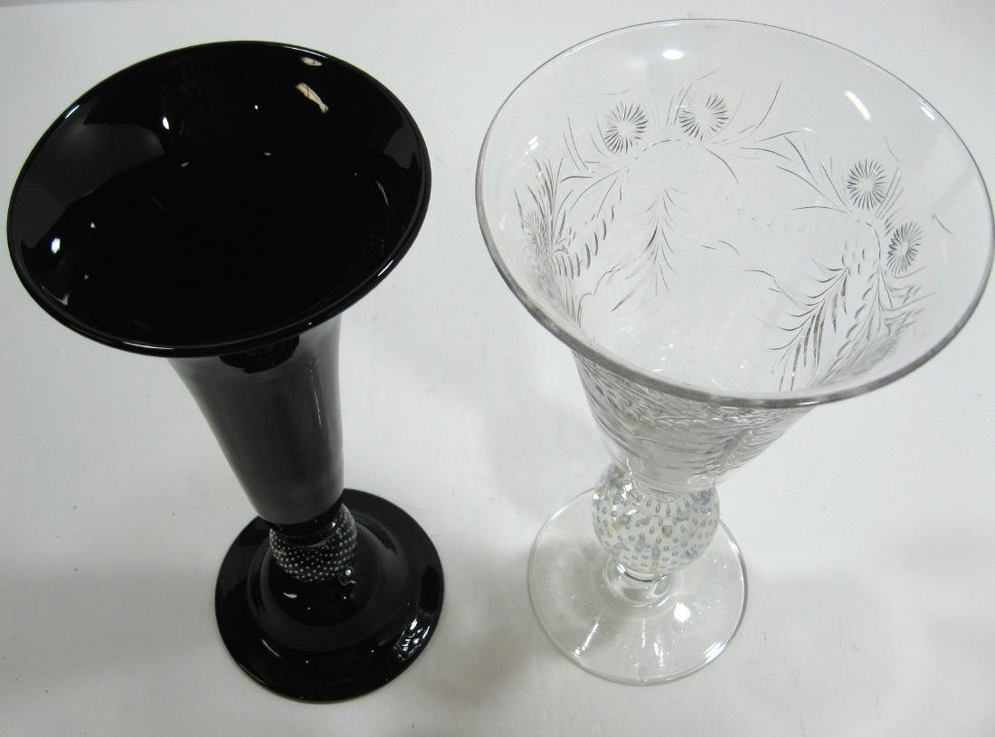 Two Pairpoint glass vases, - 4