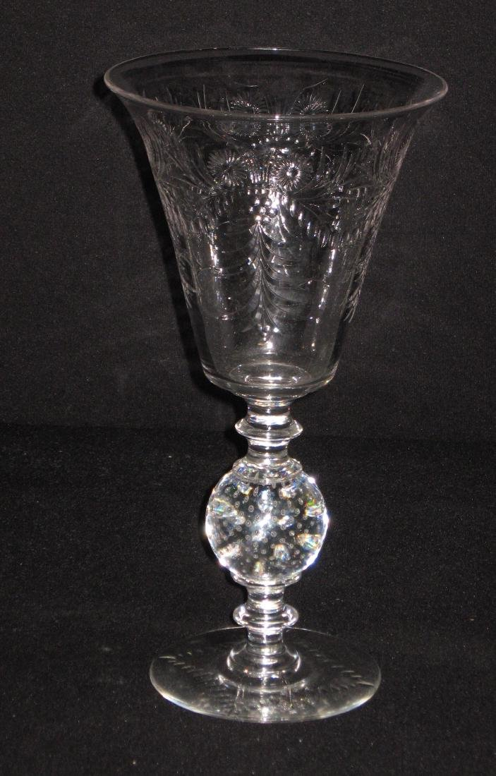 Two Pairpoint glass vases, - 5