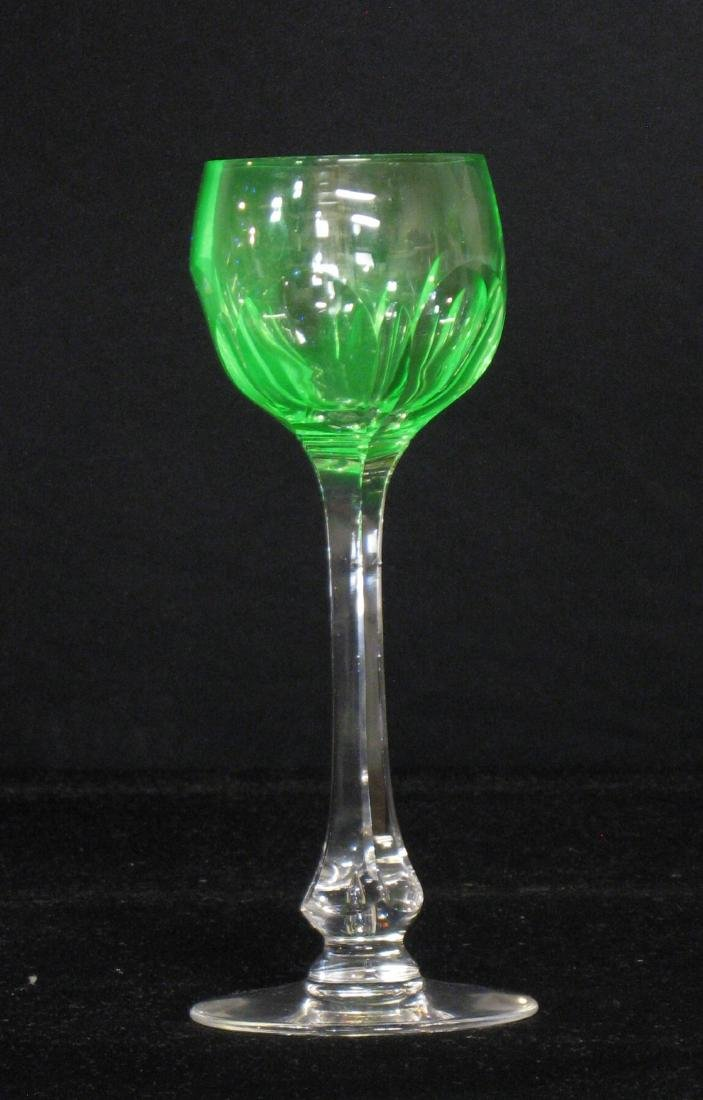 Three Art Glass stems, - 5