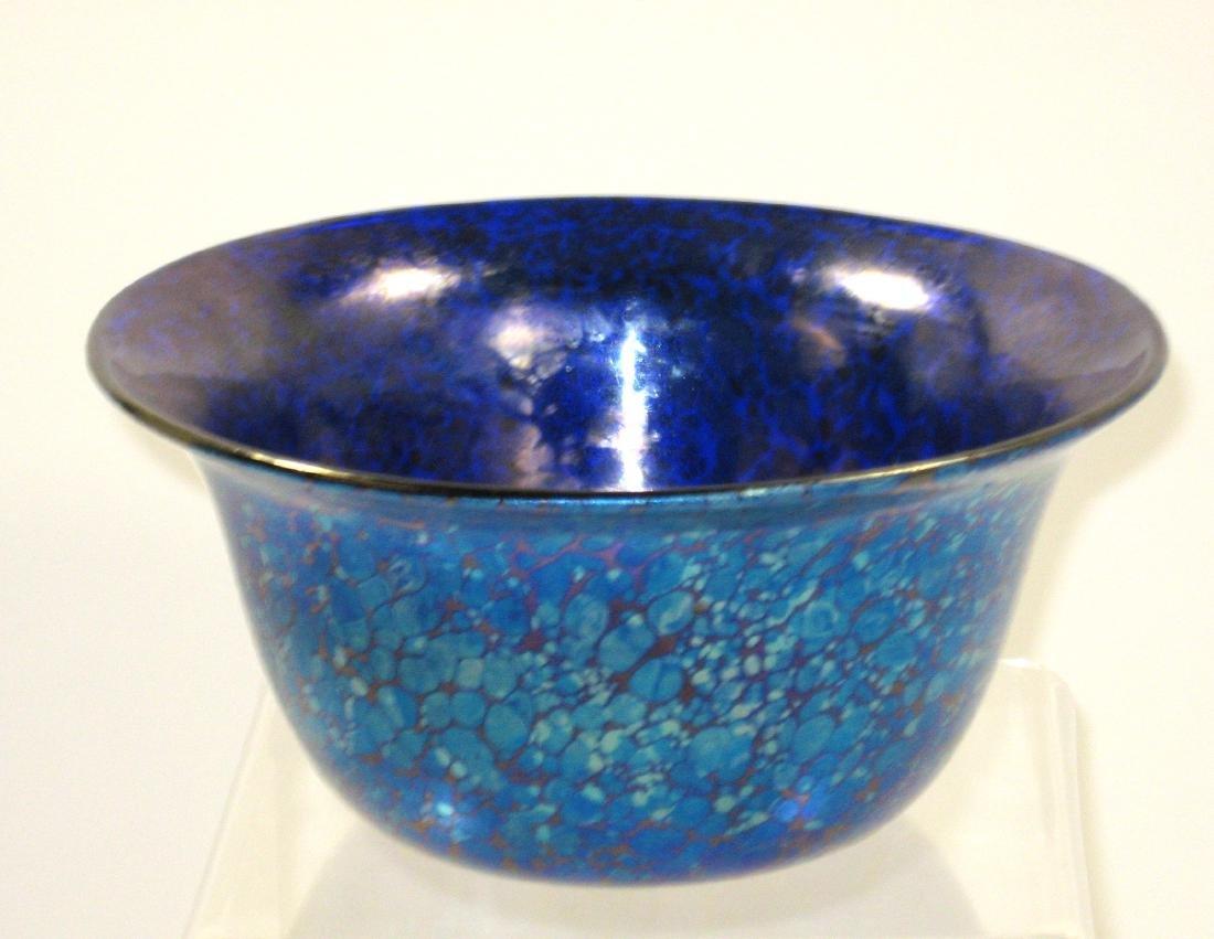 Loetz iridescent blue bowl
