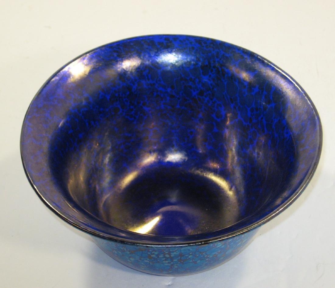 Loetz iridescent blue bowl - 2