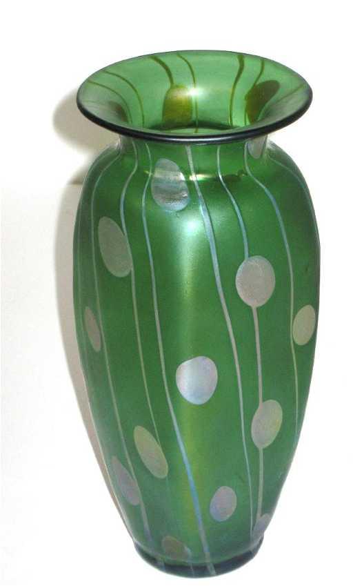 Decorated Loetz Glass Vase