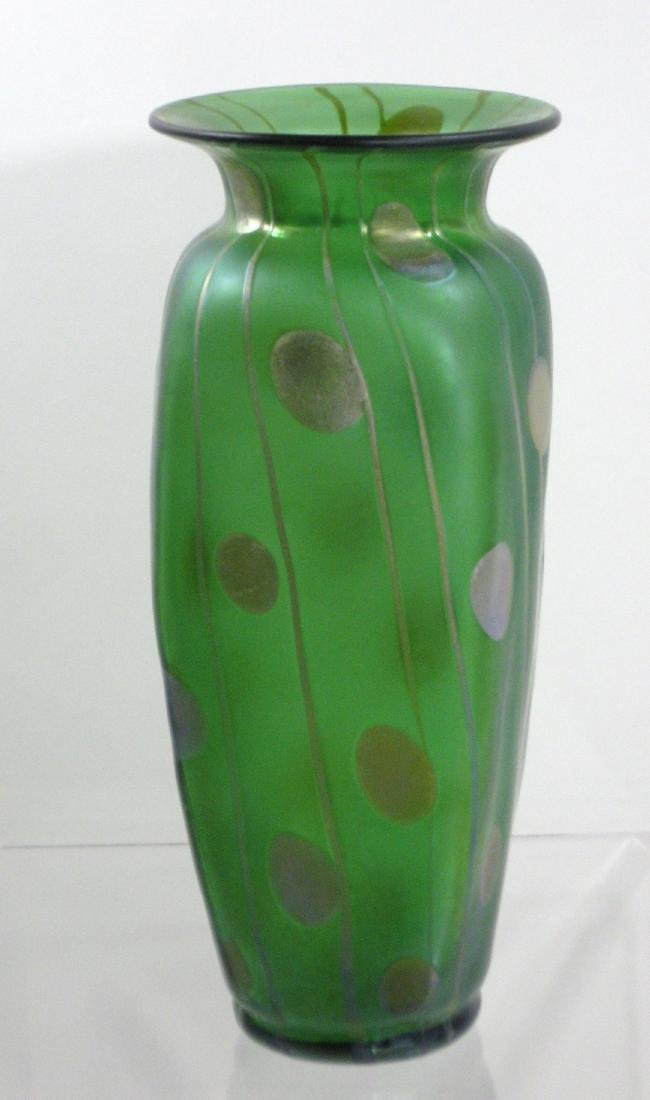 Decorated Loetz glass vase, - 4