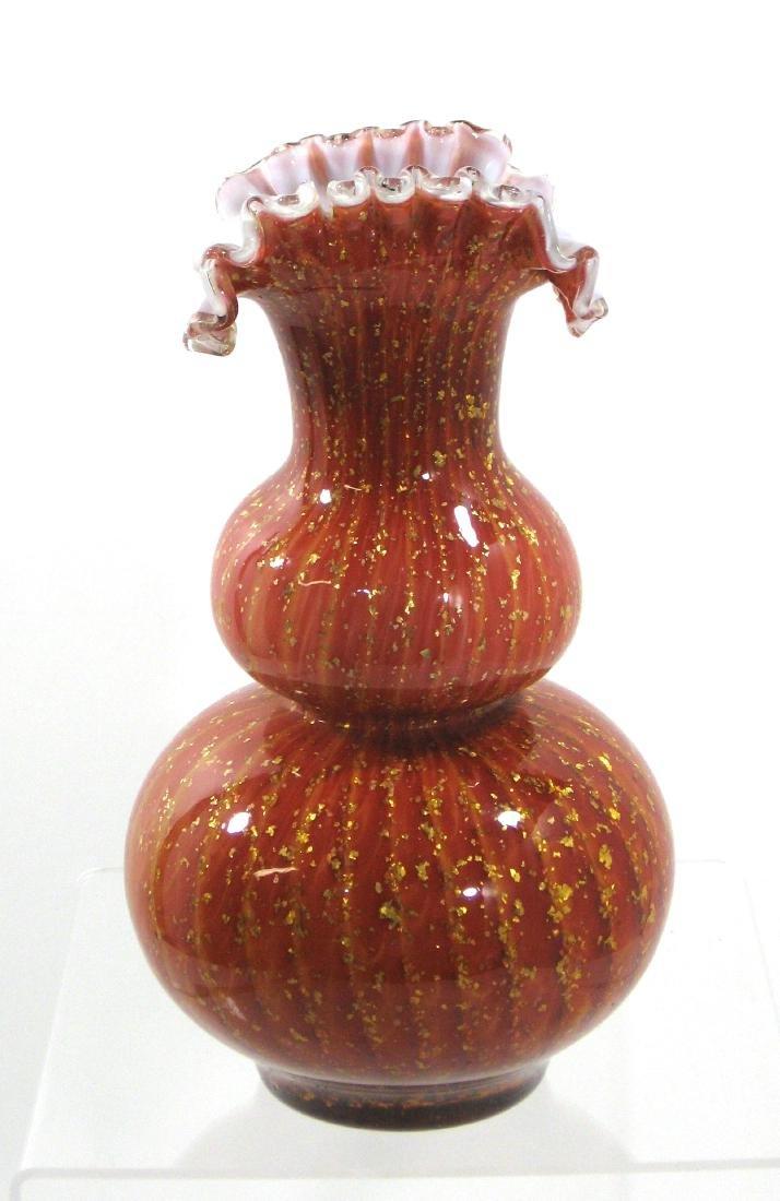 Stevens and Williams glass vase,
