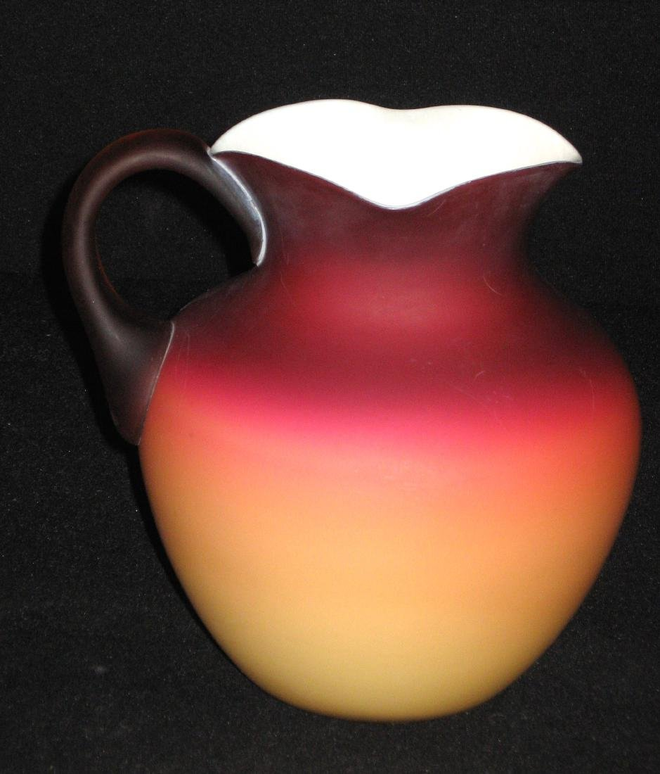 Wheeling Peachblow Water Pitcher - 5