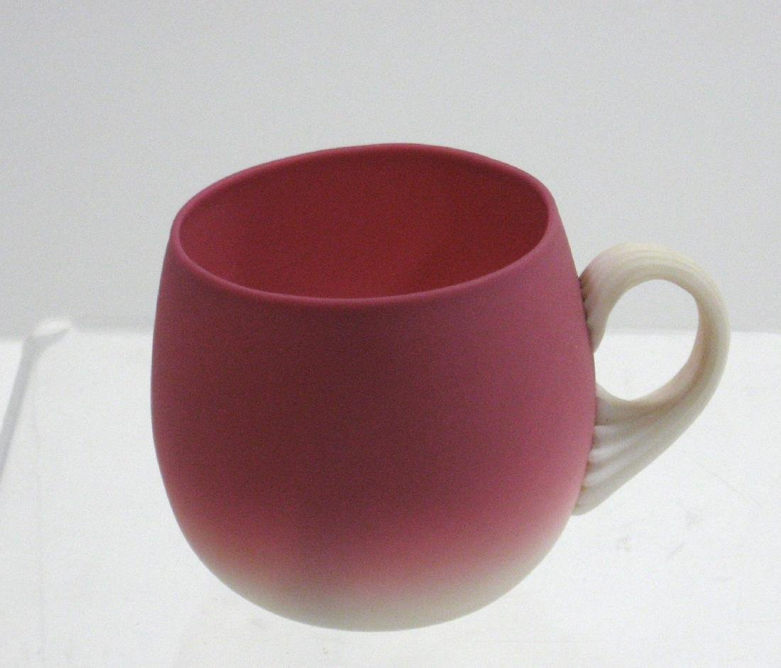 New England Peachblow punch cup,