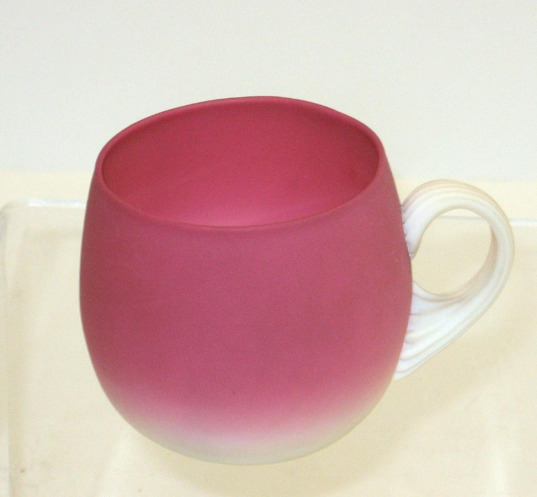 New England Peachblow punch cup, - 2
