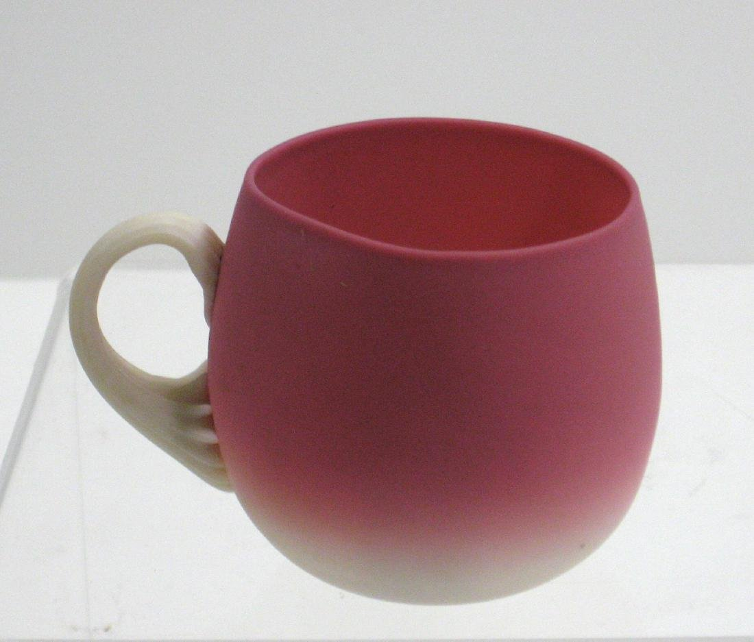 New England Peachblow punch cup, - 3