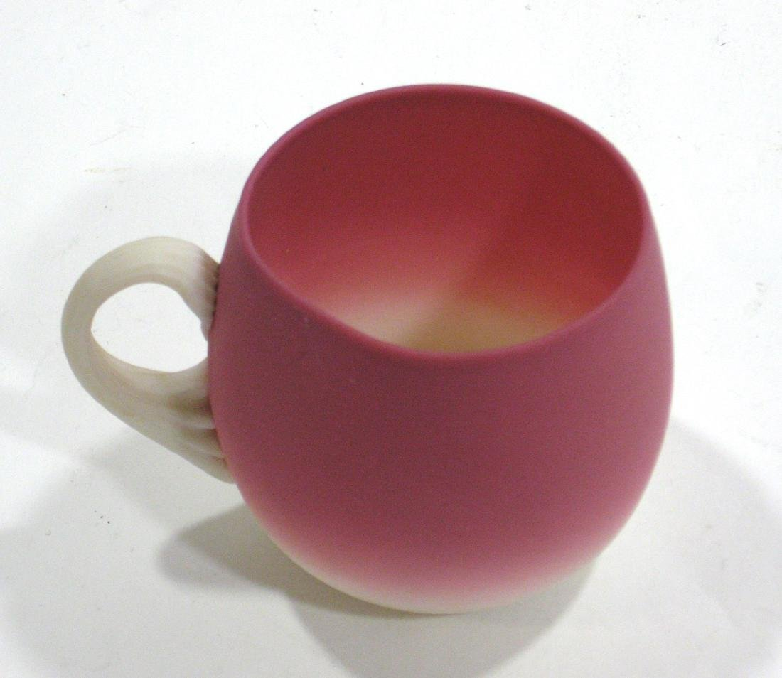 New England Peachblow punch cup, - 4