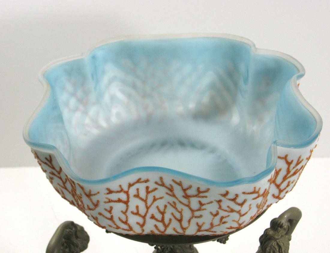 Coralene brides bowl and stand - 2