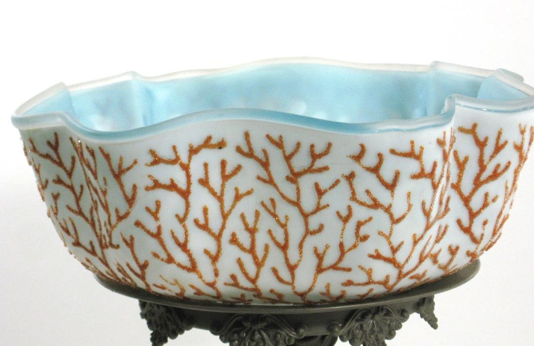 Coralene brides bowl and stand - 3