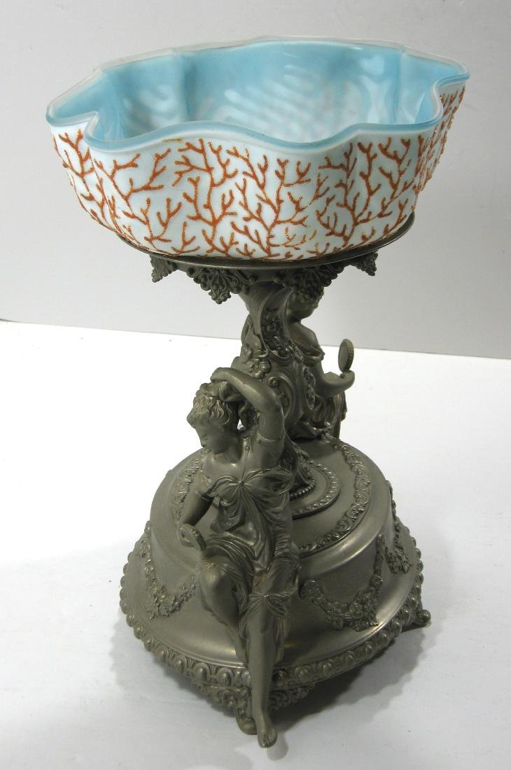 Coralene brides bowl and stand - 4