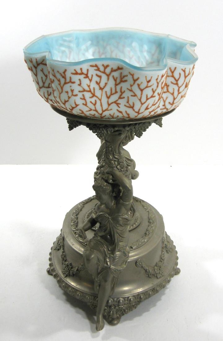 Coralene brides bowl and stand - 5