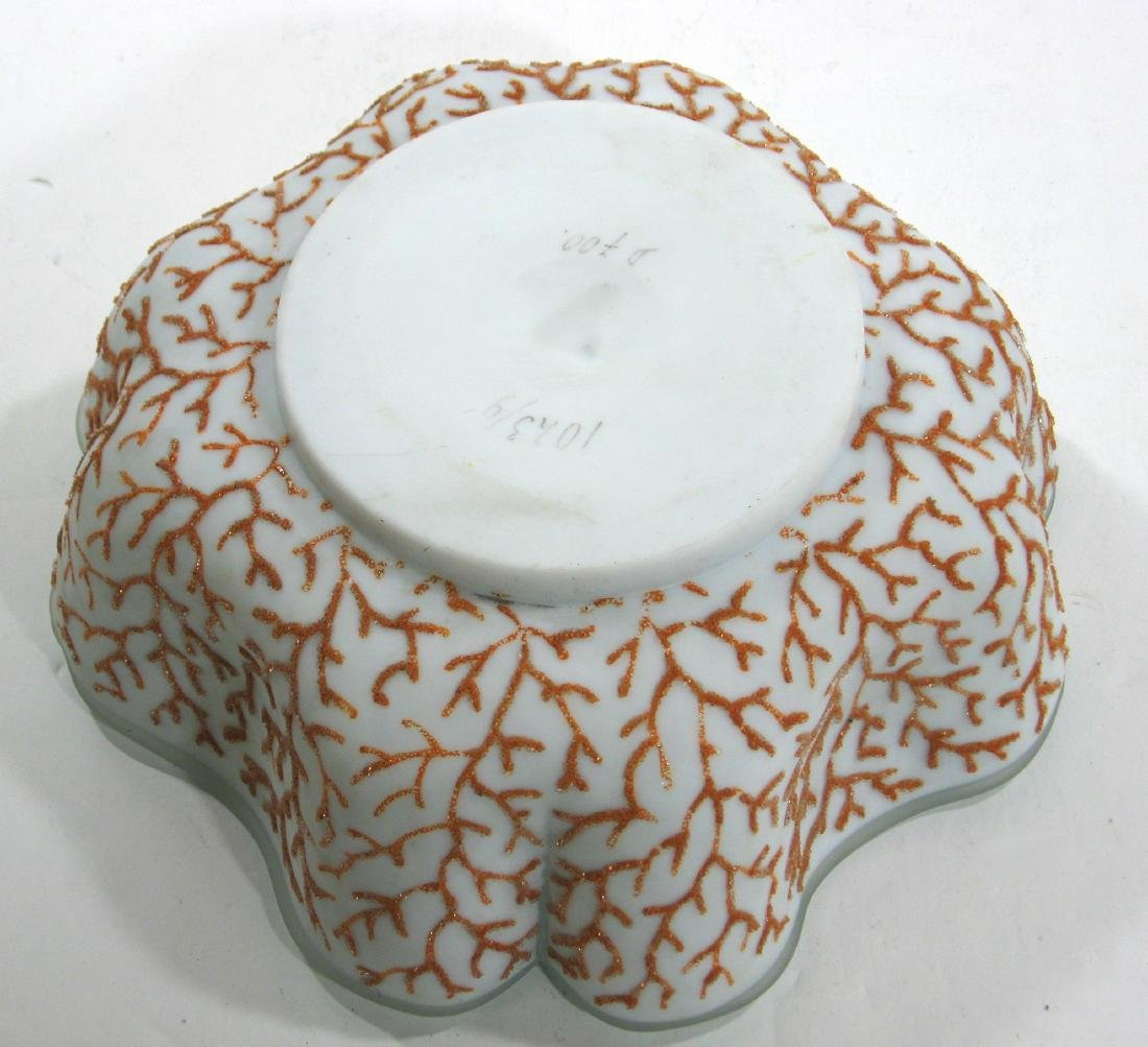 Coralene brides bowl and stand - 7