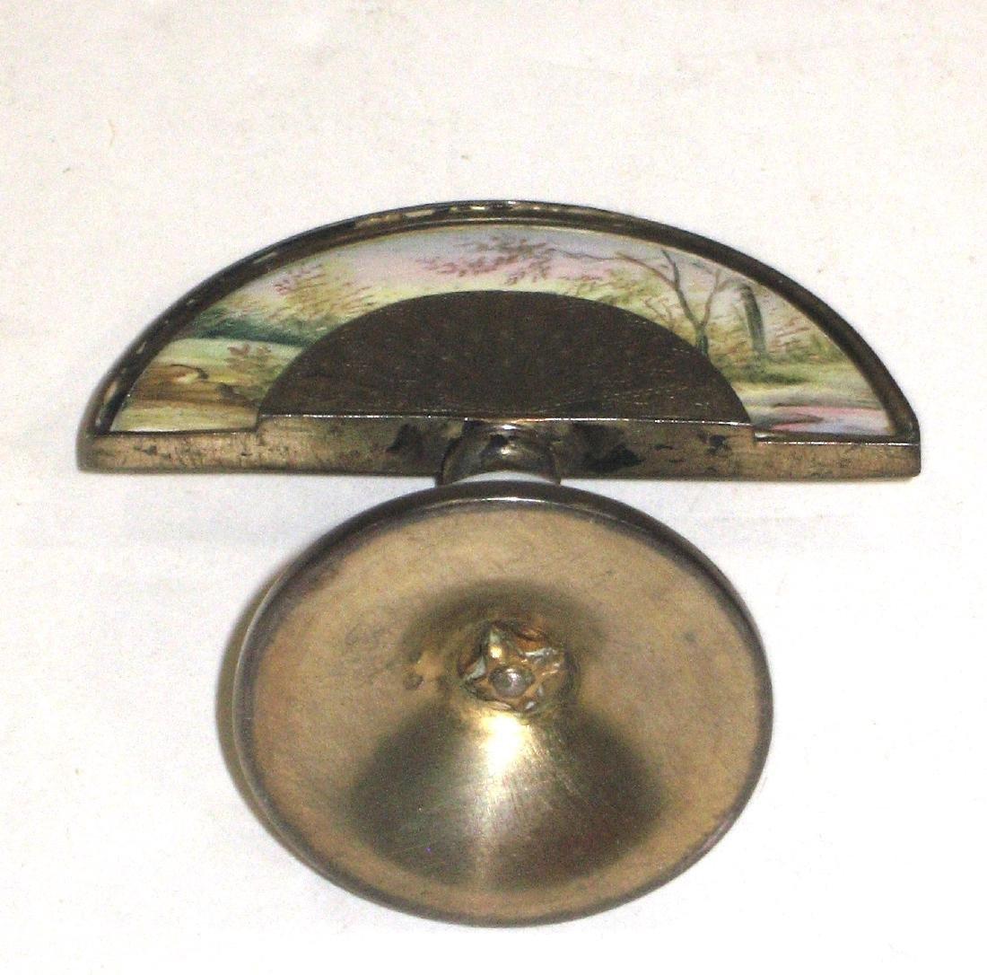 Austrian enameled fan paperweight - 4