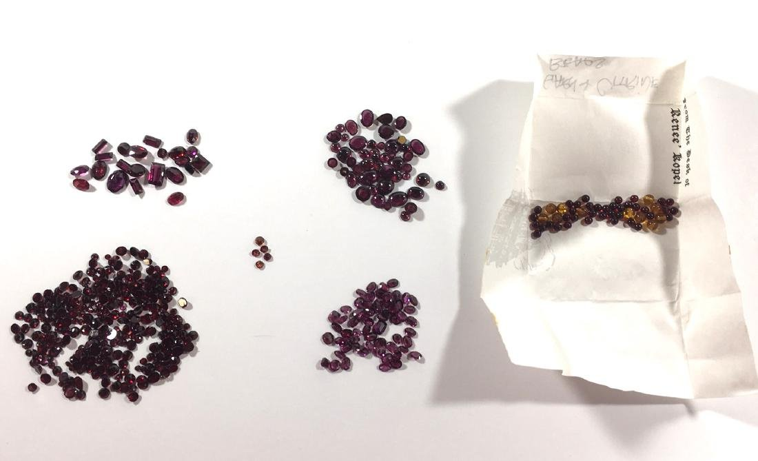 Six bags of jewels, Garnets Citrines