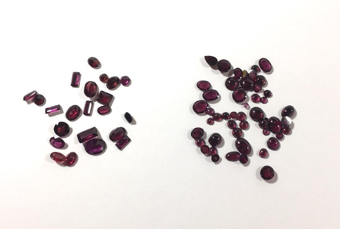 Six bags of jewels, Garnets Citrines - 2