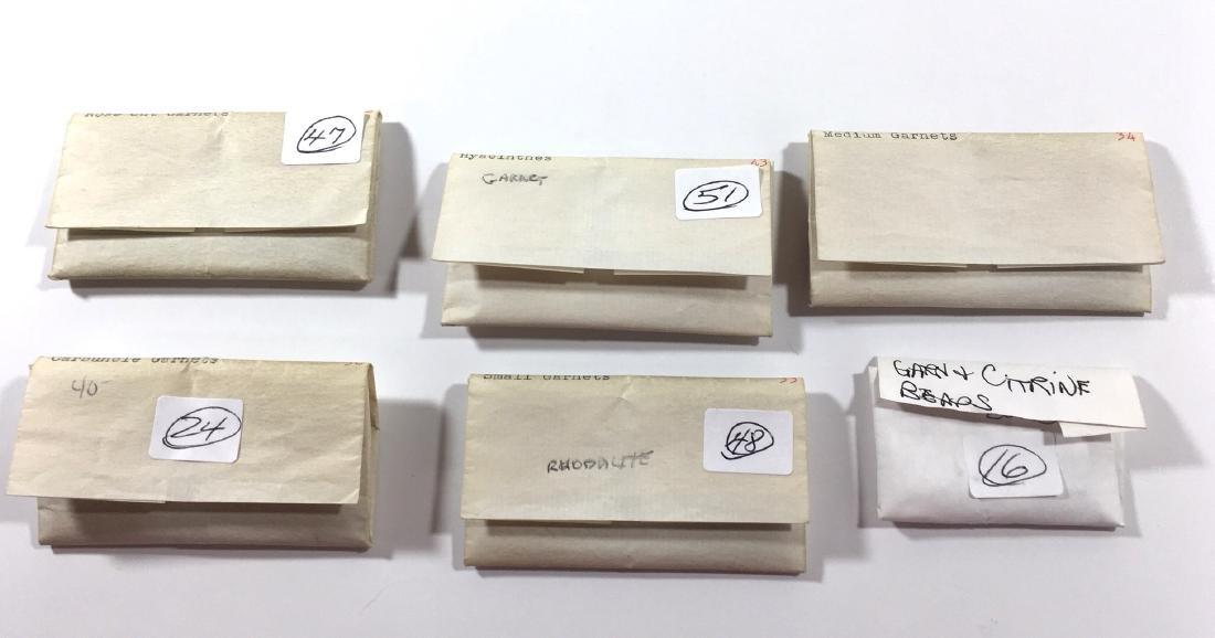 Six bags of jewels, Garnets Citrines - 3