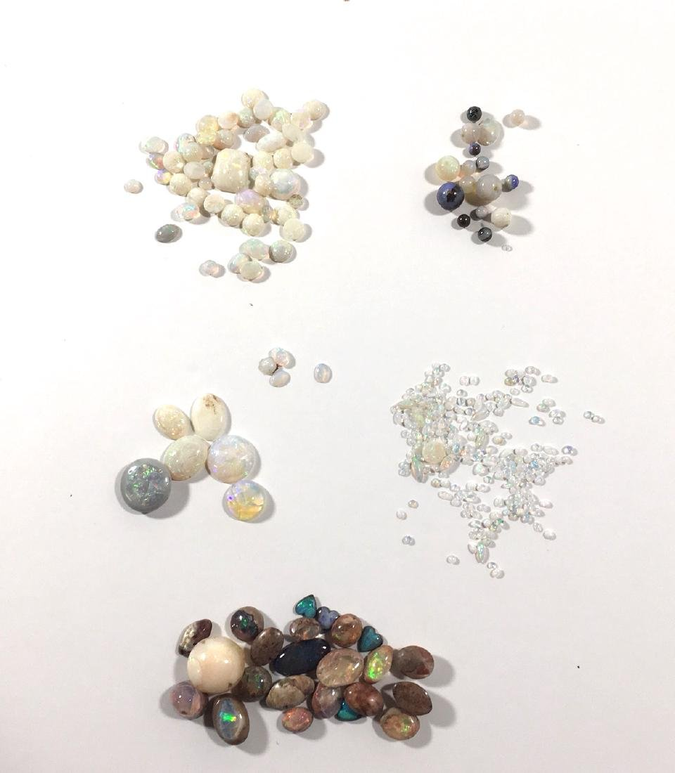 Group of opal loose jewels