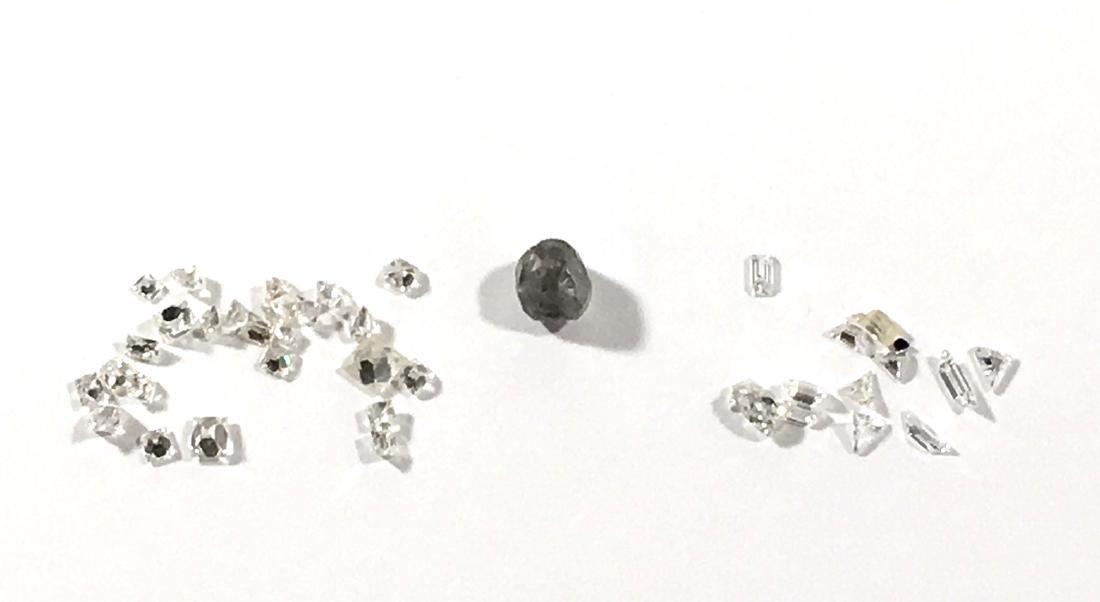 Group of loose diamonds,