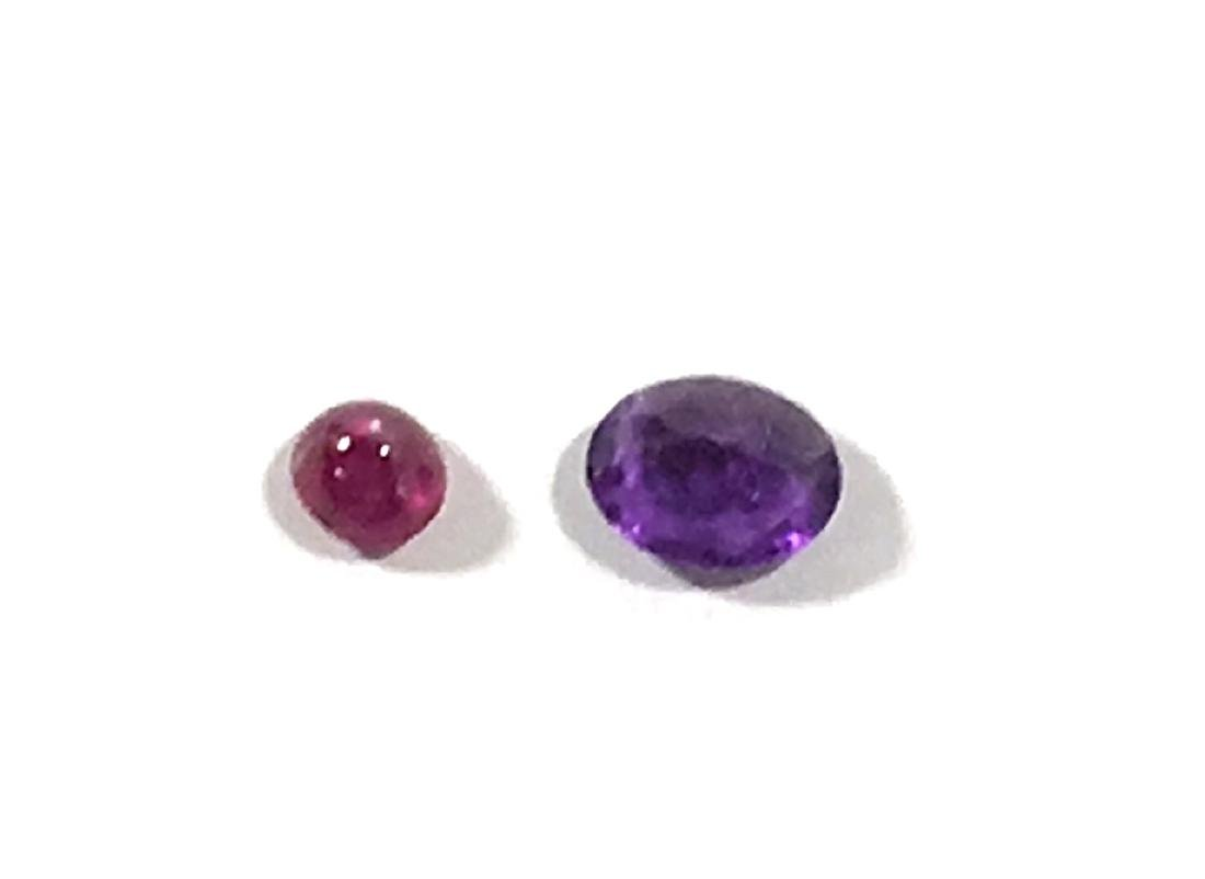 Large Amethysts and Star Ruby