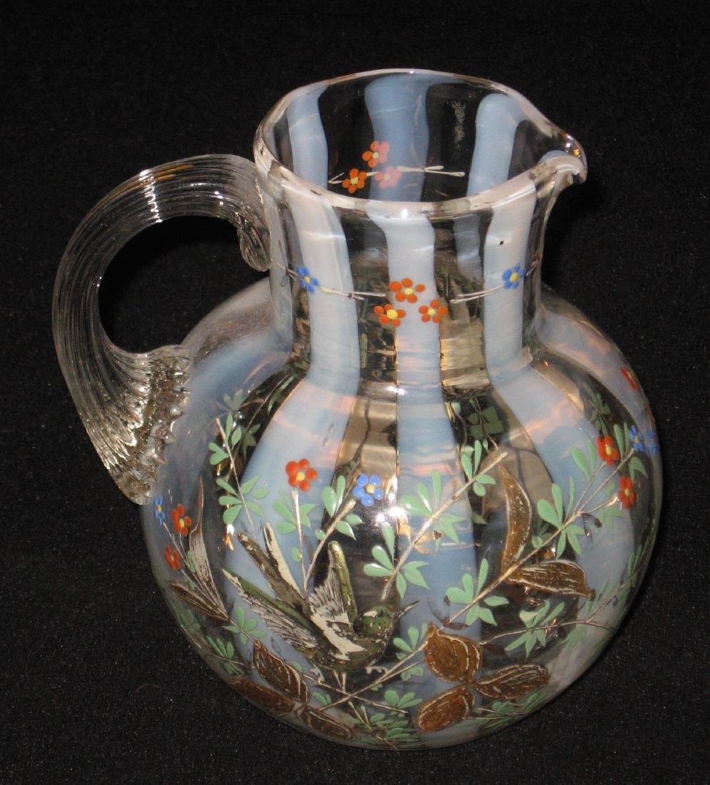 Magnificent opalescent glass pitcher - 2